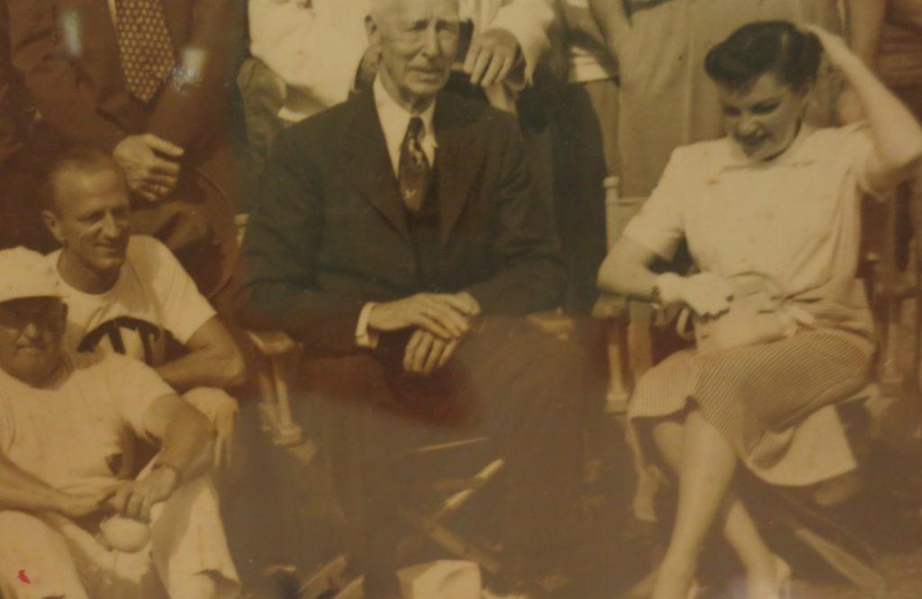 Legendary Connie Mack, Judy Garland to the right & Frank Ross standing behind.