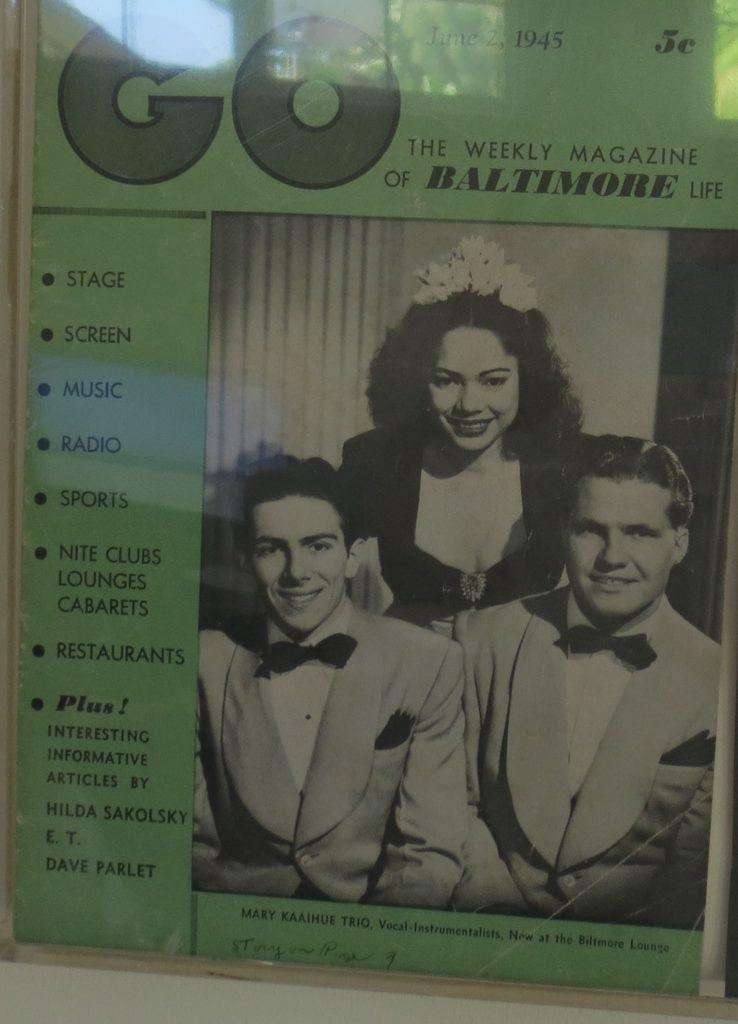 Frank, Mary, Jules -Mary Kaaihue Trio 1945